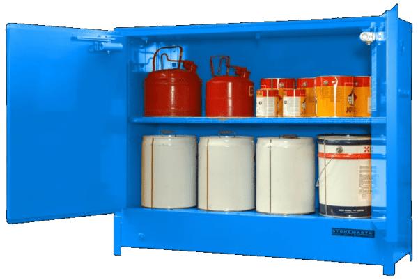 DPS1618 Heavy Duty Dangerous Goods Storage Cabinets open