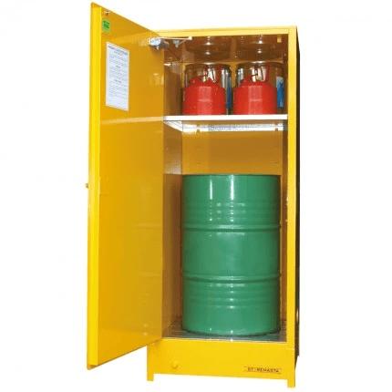 DPS251 Heavy Duty Dangerous Goods Storage Cabinets open steel drum