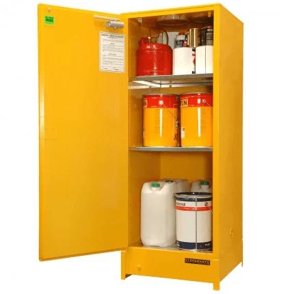DPS251 Heavy Duty Dangerous Goods Storage Cabinets open