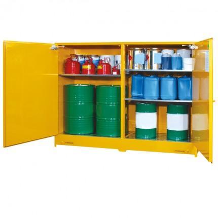 DPS850 Heavy Duty Dangerous Goods Storage Cabinets open