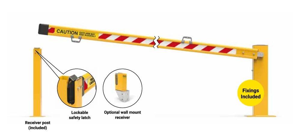 DSBG5000 Dock Safe Manual Boom Gate features