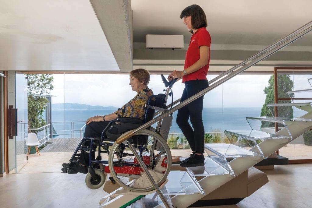 Domino People Slim Wheelchair Stair Climber