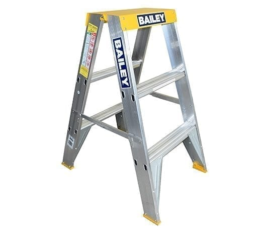 Aluminium Double Sided Ladders 3-step