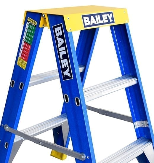 Fibreglass Double Sided Ladders 3-step