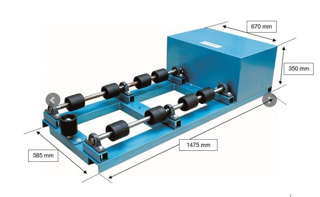 Drum Roller Mixer dimensions