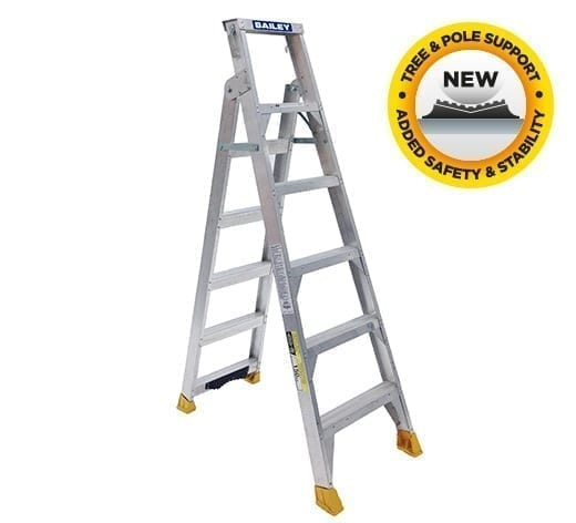 Dual Purpose Ladders - Aluminium Riveted with tree/pole support