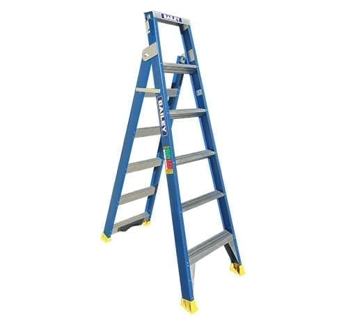 Dual Purpose Ladders - Fibreglass Riveted with tree/pole support