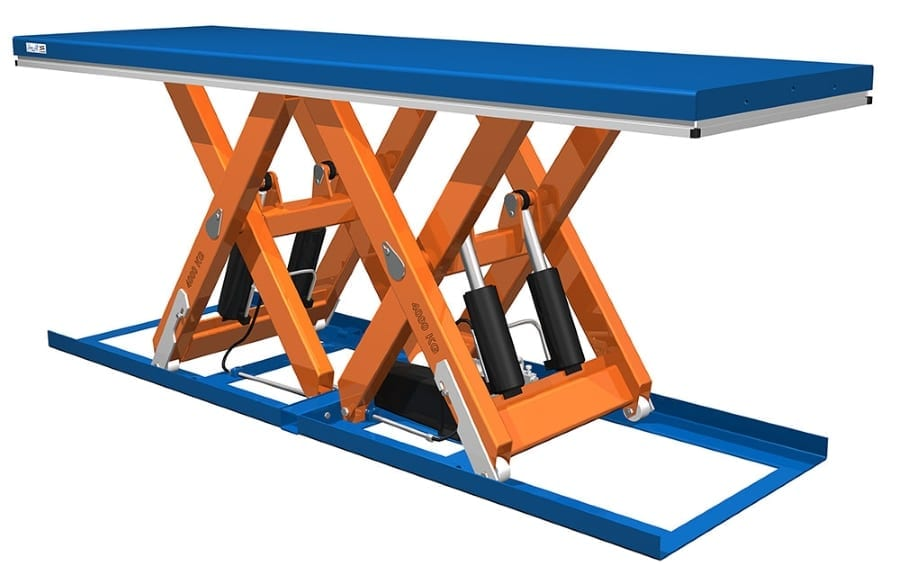 Eurolift Scissor Lift Tables Horizontal Double Scissor