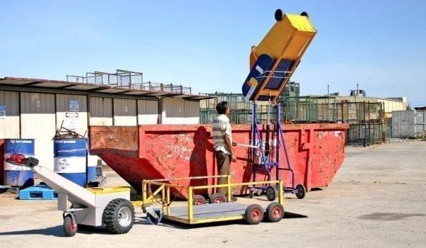Factory rugged manual bin lifter web