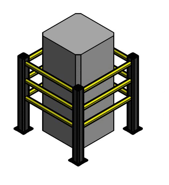 Flex Impact coloumn protector - post and rail