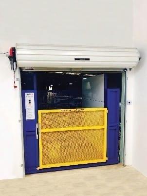 Compact Goods Hoist Roller Door
