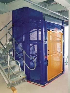 Compact Goods Hoist stairs