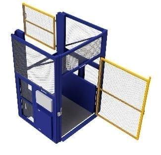 Compact Goods Hoist swing gates
