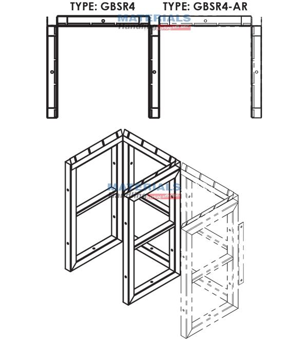 GBSR4AR 3d 003 Gas Cylinder Storage Rack