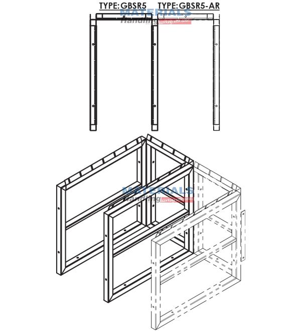 GBSR5AR 3d 003 Gas Cylinder Storage Rack