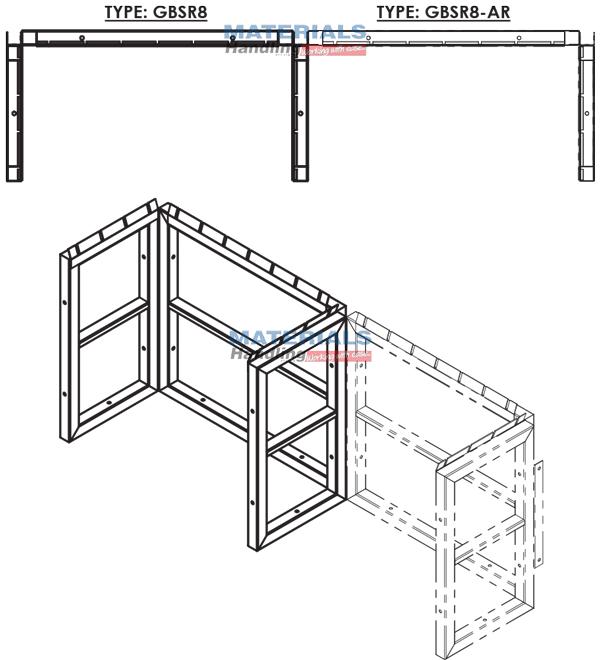 GBSR8AR 3d 003 Gas Cylinder Storage Rack