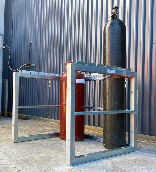 GBSR9 Gas Cylinder Storage Rack 3