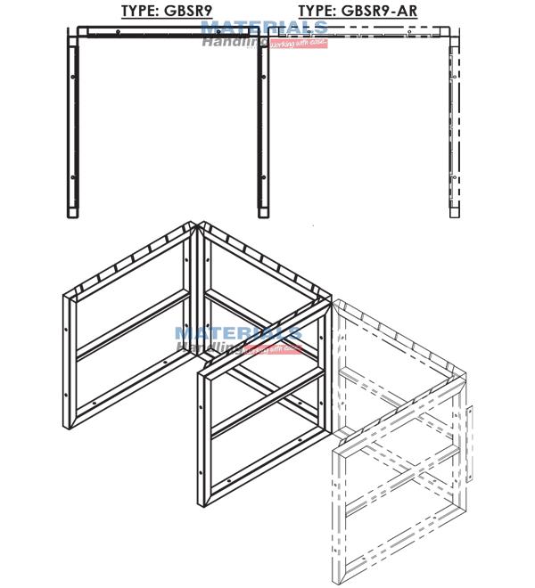 GBSR9AR 3d 003 Gas Cylinder Storage Rack