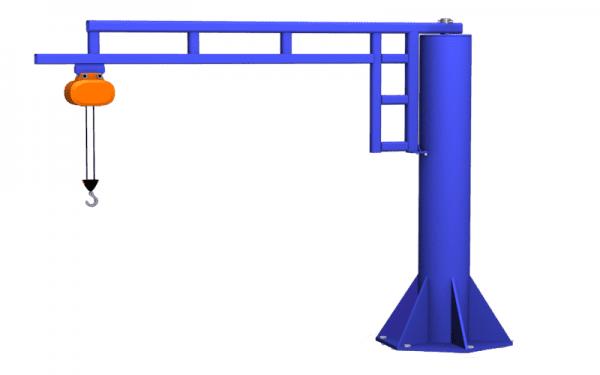 Gorbel Workstation jib crane with hoist