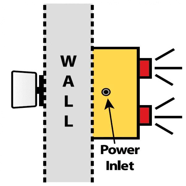 Hall Door Monitor Basic Top View Diagram