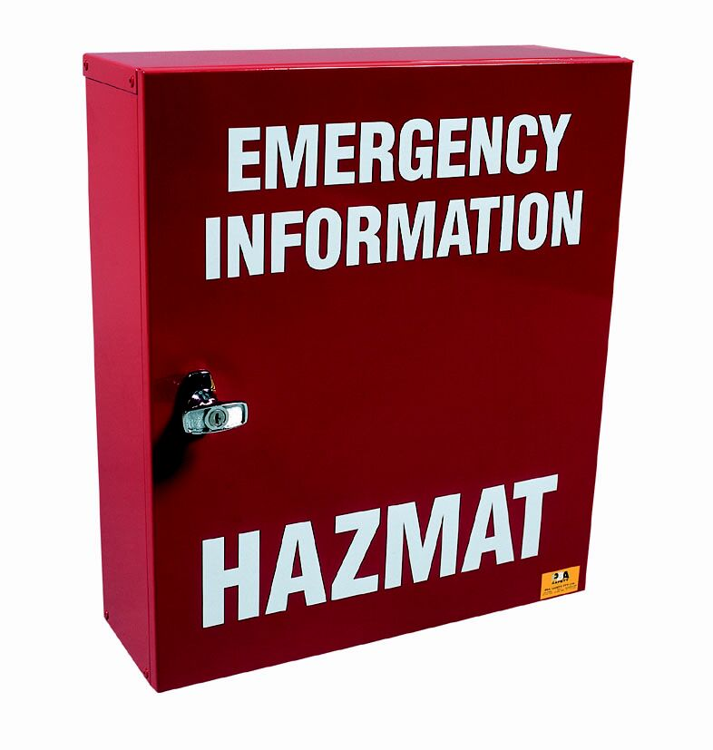Hazmat Emergency Manifest Storage Cabinet DAU25001 closed