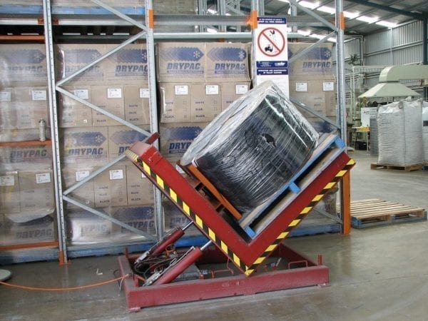 Hydrualic Product Tilters in use