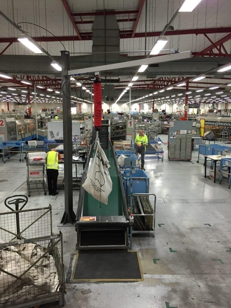 Vaculex TL in operation at Australia Post