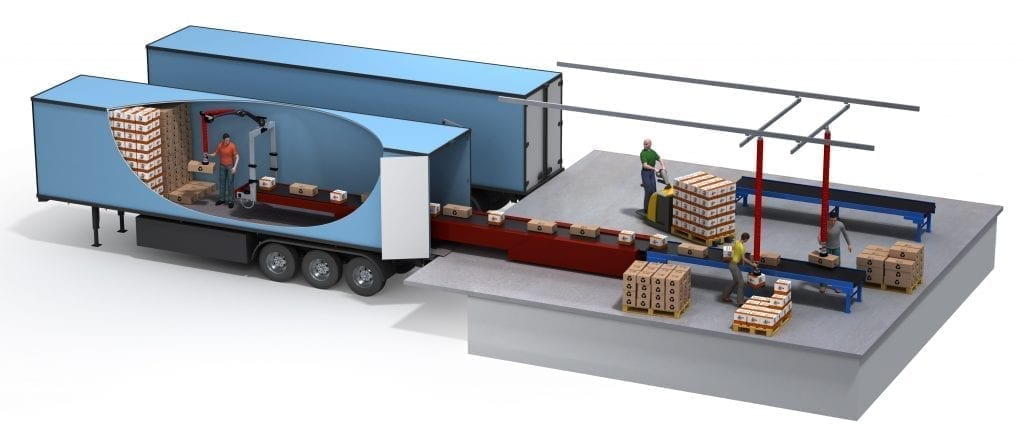 Vaculex TP in use for unloading goods