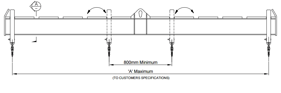 LCSB Crane Spreader Beam Drawing