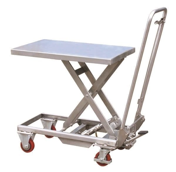 Aluminium Mobile Scissor Trolleys Materials Handling