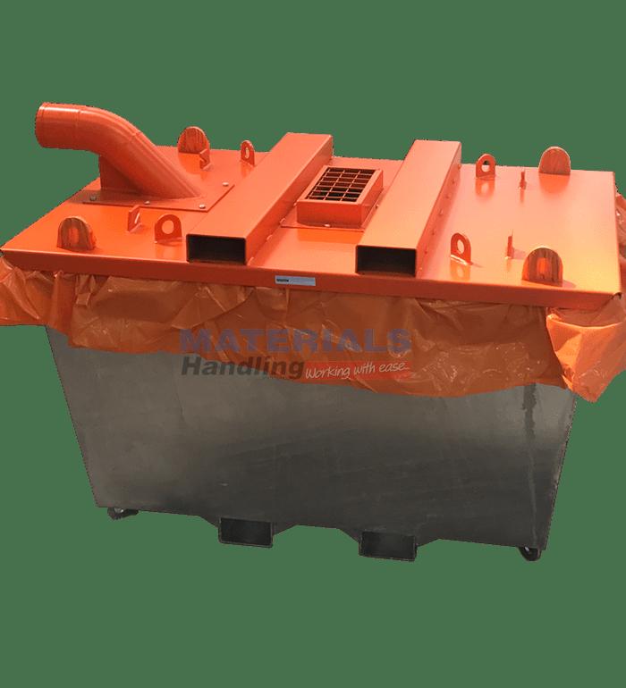 Concrete Washout Bin Materials Handling