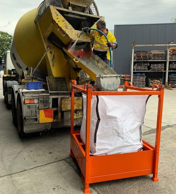 MCSS115 Concrete Washout Filtration Unit in application