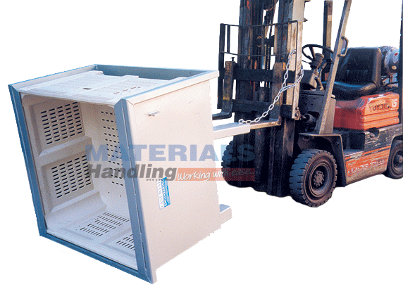 MFBTM Forklift Mounted Bin Tipper – Mechanical tip