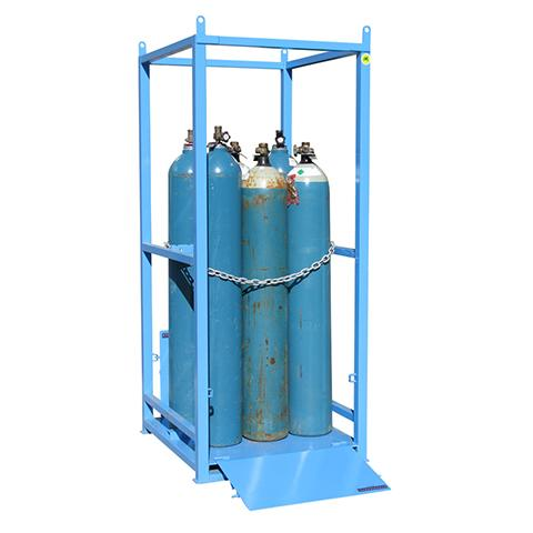 MG04D Gas Cylinder Storage Cages ramp down