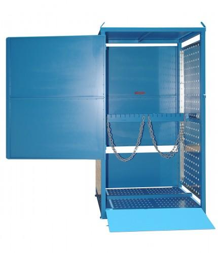 MG04DS Gas Cylinder Storage Cages one side access