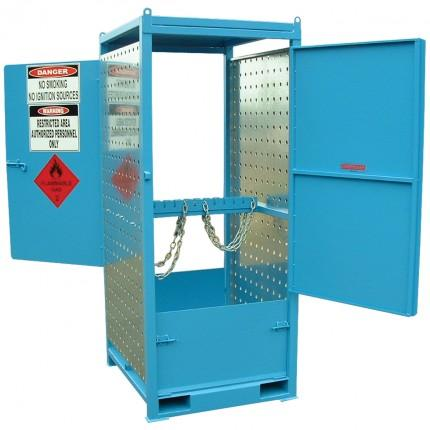 MG04DS Gas Cylinder Storage Cages open