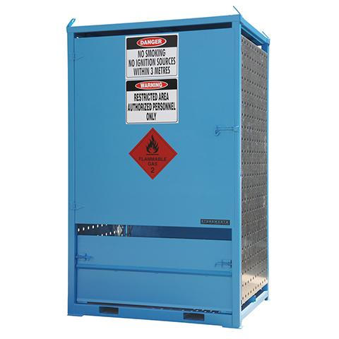 MG06DS Gas Cylinder Storage Cages closed