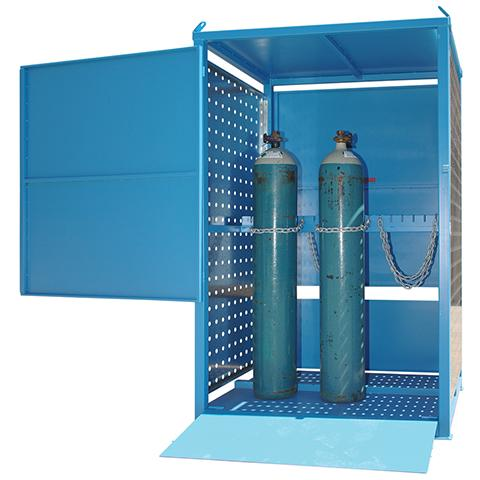 MG06DS Gas Cylinder Storage Cages open