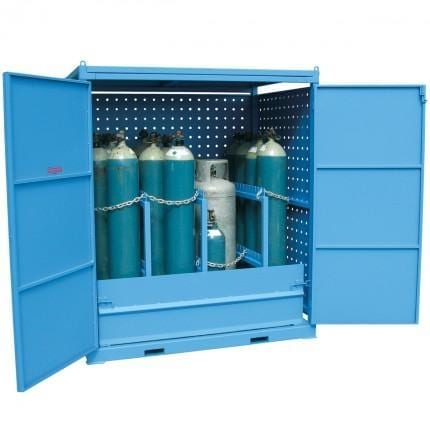 MG12SS Gas Cylinder Storage Cages open