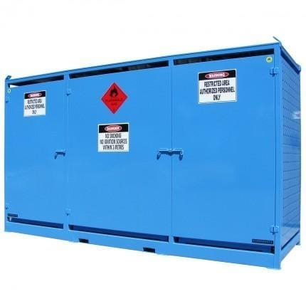 MG24SS Gas Cylinder Storage Cages closed