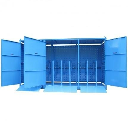 MG24SS Gas Cylinder Storage Cages open
