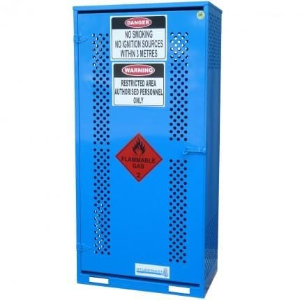 MG2SS Gas Cylinder Storage Cages closed
