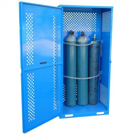 MG2SS Gas Cylinder Storage Cages open