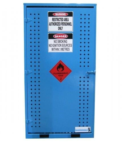 MG4SS Gas Cylinder Storage Cages closed