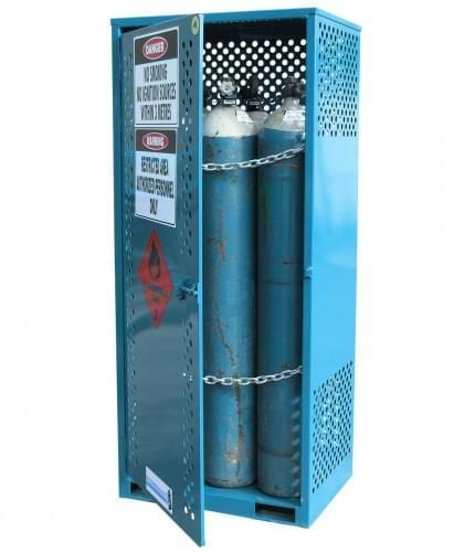 MG4SS Gas Cylinder Storage Cages open