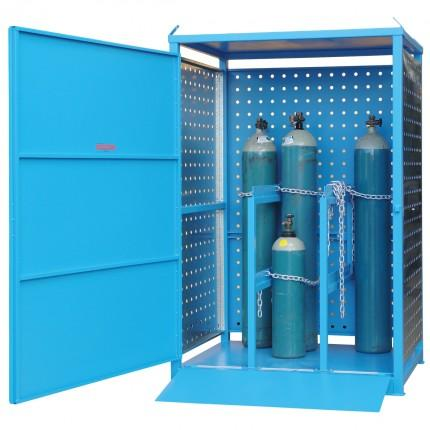 MG6SS Gas Cylinder Storage Cages open