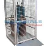 MGBCM2RPA Gas Cylinder Cage (Secure) with Ramp - Assembled