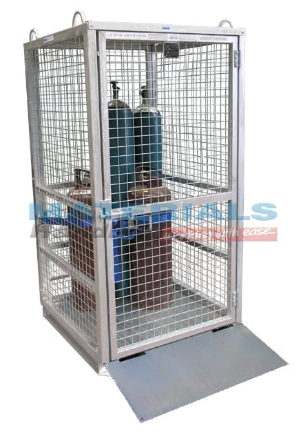 MGBCM2RPA Gas Cylinder Cage Secure with Ramp Assembled