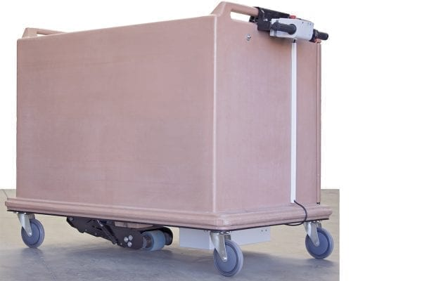 MP5W with horizontal controller meal delivery trolley