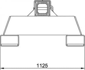 MSFJL100 Fixed Jib (End View)